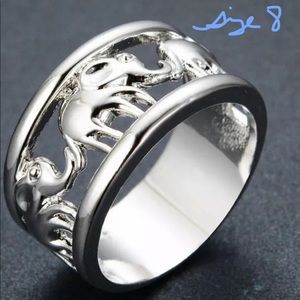 Silver Elephant Ring